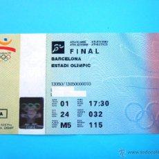 Coleccionismo deportivo: ENTRADA OLIMPIADAS BARCELONA 92 FINAL ATLETISMO ESTADIO OLIMPICO AUTENTICA #PV-R. Lote 51816594