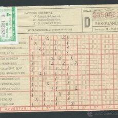 Coleccionismo deportivo: BOLETO LA QUINIELA AÑO 1979 SORTEO JORNADA 25 CON SELLO. Lote 51880916