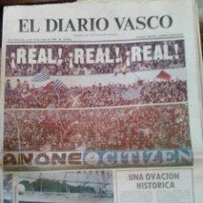 Coleccionismo deportivo: DIARIO VASCO 1980 REAL SOCIEDAD. .SUBCAMPEON DE LIGA. Lote 52045963