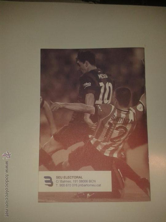 Coleccionismo deportivo: PROGRAMA ELECTORAL J.M. BERTOMEU - FUTBOL CLUB BARCELONA - ELECCIONES BARÇA 2015 - Foto 2 - 52257044
