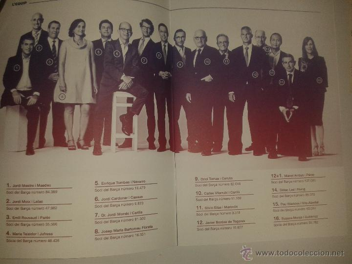 Coleccionismo deportivo: PROGRAMA ELECTORAL J.M. BERTOMEU - FUTBOL CLUB BARCELONA - ELECCIONES BARÇA 2015 - Foto 3 - 52257044