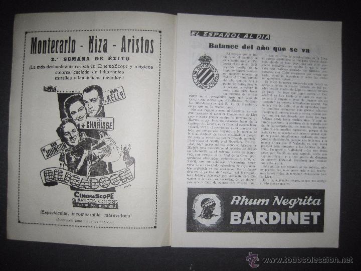 Coleccionismo deportivo: R.C.D. ESPAÑOL - PROGRAMA PARIDO VALENCIA ESPAÑOL - AÑO 1956- 57 - VER FOTOS -( V-3302 ) - Foto 2 - 52299584