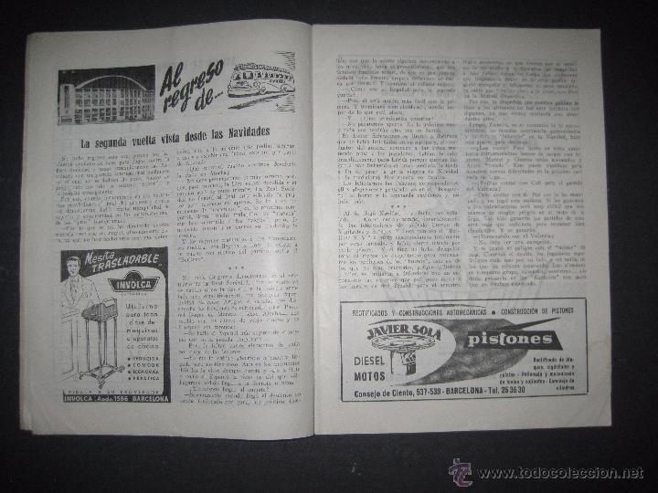 Coleccionismo deportivo: R.C.D. ESPAÑOL - PROGRAMA PARIDO VALENCIA ESPAÑOL - AÑO 1956- 57 - VER FOTOS -( V-3302 ) - Foto 5 - 52299584