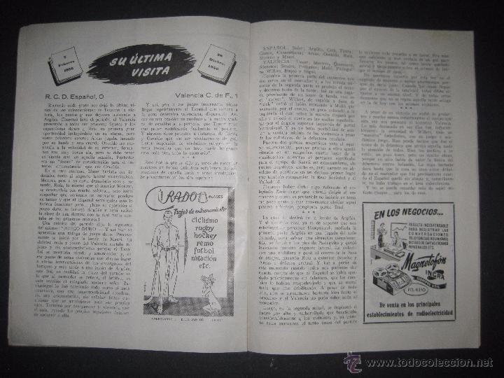 Coleccionismo deportivo: R.C.D. ESPAÑOL - PROGRAMA PARIDO VALENCIA ESPAÑOL - AÑO 1956- 57 - VER FOTOS -( V-3302 ) - Foto 7 - 52299584