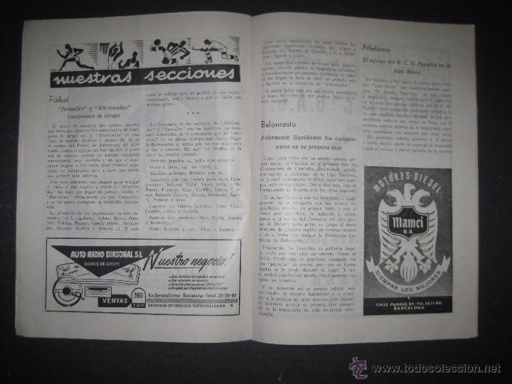 Coleccionismo deportivo: R.C.D. ESPAÑOL - PROGRAMA PARIDO VALENCIA ESPAÑOL - AÑO 1956- 57 - VER FOTOS -( V-3302 ) - Foto 8 - 52299584