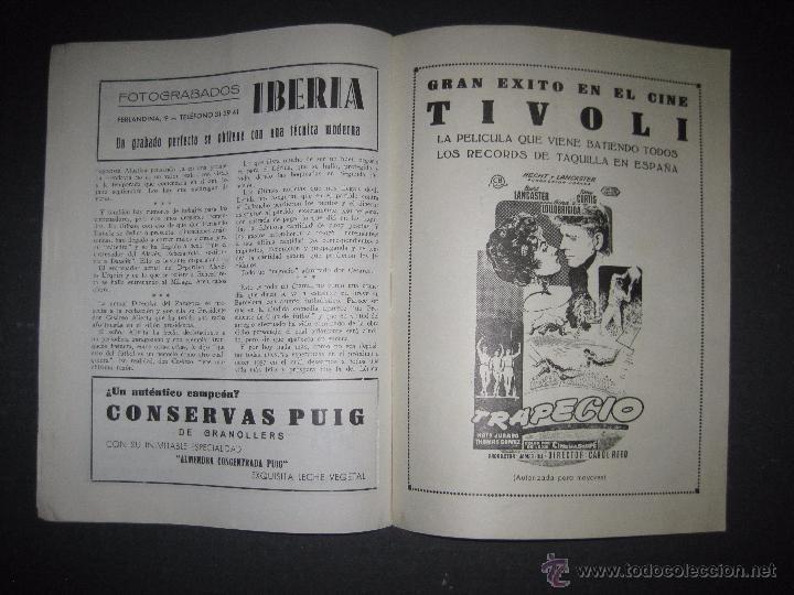 Coleccionismo deportivo: R.C.D. ESPAÑOL - PROGRAMA PARIDO VALENCIA ESPAÑOL - AÑO 1956- 57 - VER FOTOS -( V-3302 ) - Foto 10 - 52299584