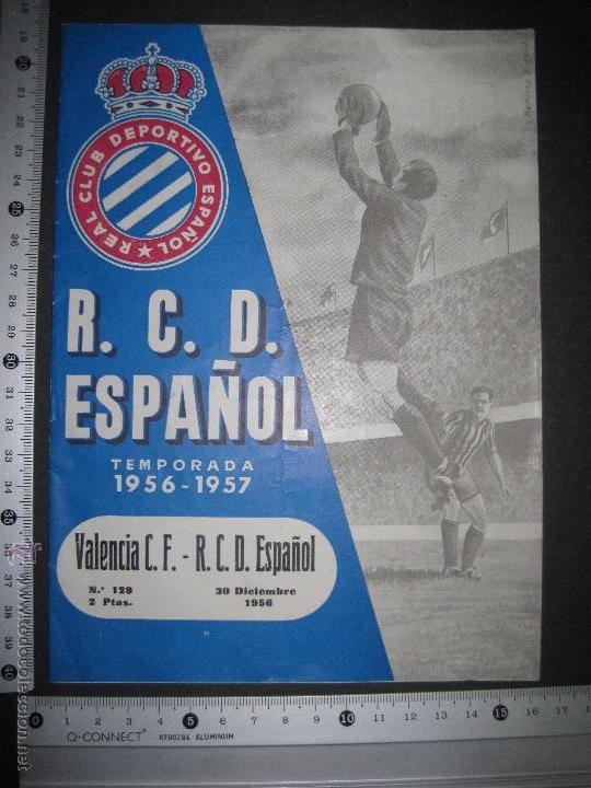 Coleccionismo deportivo: R.C.D. ESPAÑOL - PROGRAMA PARIDO VALENCIA ESPAÑOL - AÑO 1956- 57 - VER FOTOS -( V-3302 ) - Foto 12 - 52299584