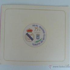 Coleccionismo deportivo: REAL MADRID CLUB DE FUTBOL 75 ANIVERSARIO VIÑETAS Y SELLOS . Lote 52469001