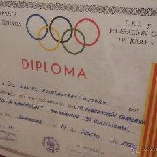 Coleccionismo deportivo: DIPLOMA DE 1985 3R CLASIFICADO TAEKWONDO EQUIPOS DE EXHIBICIÓN. Lote 52507628