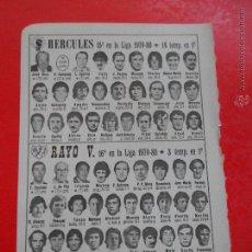 Coleccionismo deportivo: HLN ANTIGUA PEQUEÑA HOJA DEPORTIVA FÚTBOL / HÉRCULES- RAYO V.. Lote 52699214