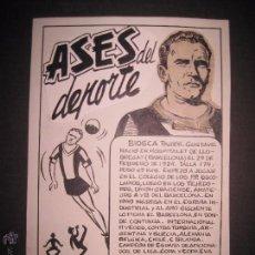 Coleccionismo deportivo: BIOSCA - F.C. BARCELONA - ASES DEL DEPORTE- ORIGINAL A PLUMA -VER FOTOS -(V-3531). Lote 52707394