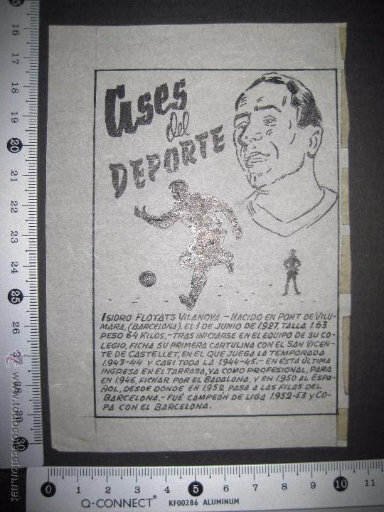 Coleccionismo deportivo: ISIDRO FLOTATS - F.C. BARCELONA - ESPAÑOL - ASES DEL DEPORTE- ORIGINAL A PLUMA -VER FOTOS -(V-3532) - Foto 3 - 52707439