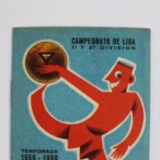 Coleccionismo deportivo: P-3231. CALENDARIO MARTINI CAMPEONATO DE LIGA 1ª Y 2ª DIVISION. TEMPORADA 1959-1960.. Lote 52730382
