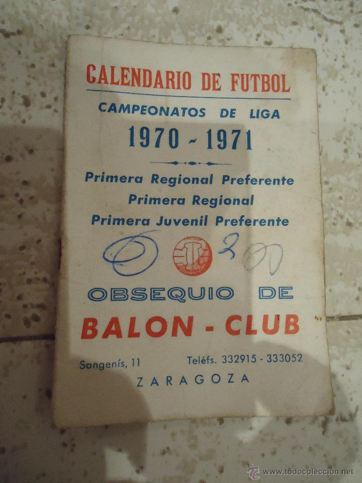 CALENDARIO DE FUTBOL PRIMERA REGIONAL 1970 /71 (Coleccionismo Deportivo - Documentos de Deportes - Otros)