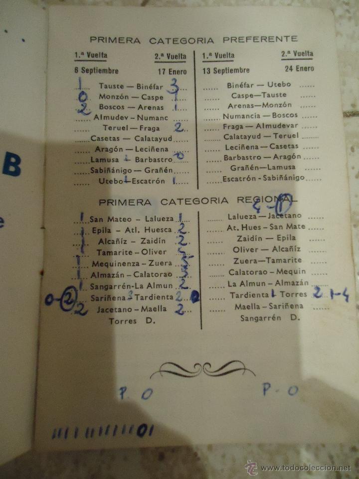 Coleccionismo deportivo: calendario de futbol primera regional 1970 /71 - Foto 3 - 52824317