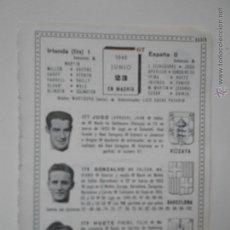 Colecionismo desportivo: HLN- ANTIGUA HOJA FUTBOL- 1946 JUGO, GONZALVO II, HUETE. IRLANDA-ESPAÑA. Lote 52953273