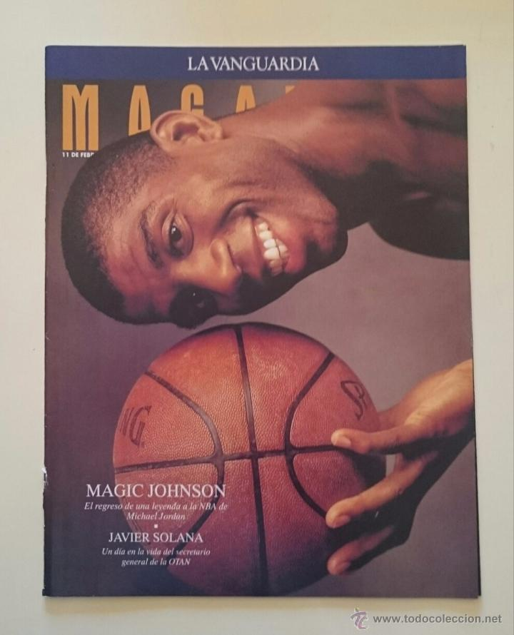 MAGAZINE LA VANGUARDIA MAGIC JOHNSON LOS ANGELES LAKERS DREAM TEAM + JORDAN NBA BASKETBALL GRAF (Coleccionismo Deportivo - Documentos de Deportes - Otros)