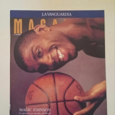 Coleccionismo deportivo: MAGAZINE LA VANGUARDIA MAGIC JOHNSON LOS ANGELES LAKERS DREAM TEAM + JORDAN NBA BASKETBALL GRAF. Lote 53035587