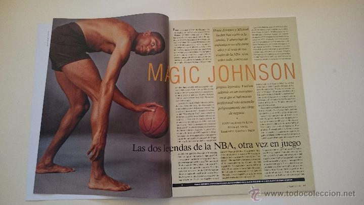 Coleccionismo deportivo: MAGAZINE LA VANGUARDIA MAGIC JOHNSON LOS ANGELES LAKERS DREAM TEAM + JORDAN NBA BASKETBALL GRAF - Foto 2 - 53035587
