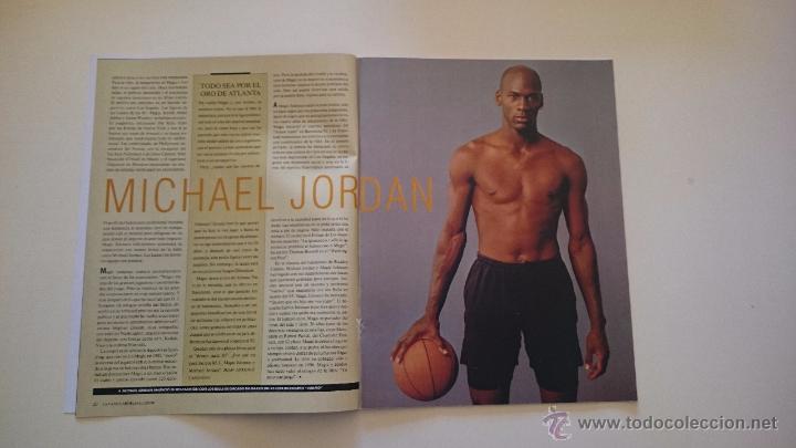 Coleccionismo deportivo: MAGAZINE LA VANGUARDIA MAGIC JOHNSON LOS ANGELES LAKERS DREAM TEAM + JORDAN NBA BASKETBALL GRAF - Foto 3 - 53035587