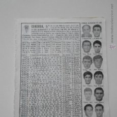 Coleccionismo deportivo: HLN- ANTIGUA HOJA FUTBOL- CORDOBA 1969-70. Lote 53055004