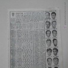 Coleccionismo deportivo: HLN- ANTIGUA HOJA FUTBOL- GIJON 1969-70. Lote 53055016