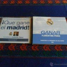 Coleccionismo deportivo: CD CANDIDATURA PRESIDENCIA REAL MADRID 04 FLORENTINO PÉREZ LORENZO SANZ REGALO CARTEL RAMÓN MENDOZA. Lote 53096999