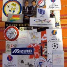 Coleccionismo deportivo: LOTE PEGATINAS FUTBOL DEPORTE NIKE MEXICO 86 FEDERATION FRANÇAISE DE FOOTBALL AJAX OLIMPIADAS 92. Lote 53209013