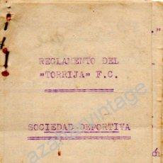 Coleccionismo deportivo: TRIGUEROS, HUELVA,1934, REGLAMENTO DEL TORRIJA,F.C., UNA JOYA, 10 PAGINAS. Lote 53225725