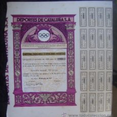 Coleccionismo deportivo: ACCION DE DE DEPORTES DE CATALUÑA S. A. CON 20 COPONES - VER FOTO REVERSO. Lote 53310293