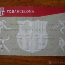 Coleccionismo deportivo: ENTRADA BALONCESTO ACB PALAU BLAUGRANA FC BARCELONA - DKV JOVENTUT TEMPORADA 2003 2004 - BARÇA. Lote 53391397