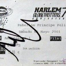 Coleccionismo deportivo: ENTRADA BALONCESTO BASKET TICKET BASKETBALL HARLEM GLOBERTROTTERS ZARAGOZA PABELLON PRINCIPE FELIPE. Lote 53536311