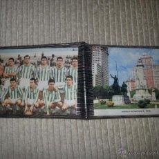 Coleccionismo deportivo: PRECIOSA CARTERITA DE EPOCA AÑOS 50. EQUIPO REAL BETIS BALOMPIE. EN LA OTRA SOLAPA, FOTO DE MADRID. Lote 53552145