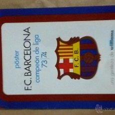 Coleccionismo deportivo: POSTER FC BARCELONA ANTIGUO VINTAGE MEYBA. Lote 53667798