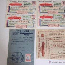 Coleccionismo deportivo: CLUB ATLÉTICO TETUÁN.UNICO CLUB MARROQUÍ DE LA LIGA DE FÚTBOL ESPAÑOLA1954.PAPELETAS LOTERÍA EL NIÑO. Lote 53779144