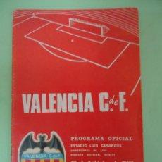 Coleccionismo deportivo: PROGRAMA OFICIAL VALENCIA C.F. CLUB ATLETICO DE BILBAO. CAMPEONATO DE LIGA TEMPORADA 1970-71. Lote 53987500
