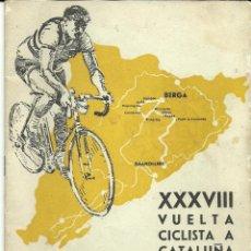 Coleccionismo deportivo: FINAL DE ETAPA EN BERGA DE LA XXXVIII VUELTA CICLISTA A CATALUÑA, AÑO 1958. PROGRAMA CURIOSO.. Lote 54062724