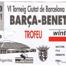 Coleccionismo deportivo: ENTRADA BASQUET BARÇA - BENETTON - VI TORNEIG CIUTAT BARCELONA 1991. Lote 54152537