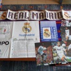 Coleccionismo deportivo: REAL MADRID PRIMER GRAN MOSAICO, CATÁLOGO PRODUCTOS OFICIALES 95 96, PUBLI TV, 6 LÁMINAS JUGADORES.. Lote 54410543