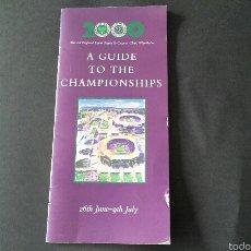 Coleccionismo deportivo: GUIA WIMBLEDON AÑO 2000. Lote 54463577