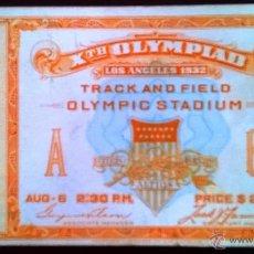 Coleccionismo deportivo: ENTRADA JUEGOS OLIMPICOS LOS ANGELES 1932 OLIMPIADA. Lote 51388660