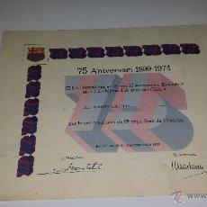 Coleccionismo deportivo: BARÇA 75 ANIVERSARI 1899-1974. Lote 54790554