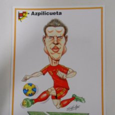 Coleccionismo deportivo: LAMINA DIBUJO CARICATURA. AZPILICUETA. SELECCION ESPAÑOLA. REAL FEDERACION FUTBOL. TDKP6. Lote 55132632