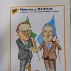 Coleccionismo deportivo: LAMINA DIBUJO CARICATURA. HERRERA Y MARTINEZ. SELECCION ESPAÑOLA. REAL FEDERACION FUTBOL. TDKP6. Lote 55132781