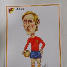 Coleccionismo deportivo: LAMINA DIBUJO CARICATURA. ZOCO. SELECCION ESPAÑOLA. REAL FEDERACION FUTBOL. TDKP6. Lote 55132878