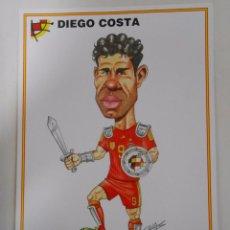 Coleccionismo deportivo: LAMINA DIBUJO CARICATURA. DIEGO COSTA. SELECCION ESPAÑOLA. REAL FEDERACION FUTBOL. TDKP6. Lote 55132893