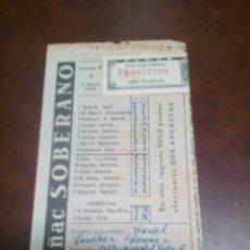 Coleccionismo deportivo: QUINIELA-1959. Lote 55632521
