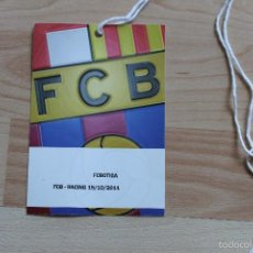 Coleccionismo deportivo: ACREDITACION FC BARCELONA RACING TEMPORADA 2011-2012 BARÇA. Lote 55810997