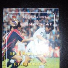 Coleccionismo deportivo: PROGRAMA OFICIAL DEL REAL MADRID,REAL MADRID,BARCELONA.. Lote 56022359