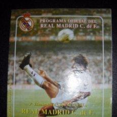 Coleccionismo deportivo: PROGRAMA OFICIAL DEL REAL MADRID,ODENSE BOLDKLUB,3ª ELIMINATORIA COPA DE LA UEFA.. Lote 56022396
